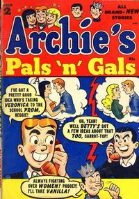 Cover Thumbnail for Archie's Pals 'n' Gals (Archie, 1952 series) #2
