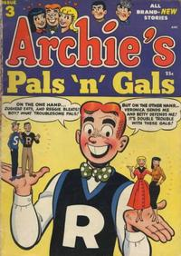 Cover Thumbnail for Archie's Pals 'n' Gals (Archie, 1952 series) #3