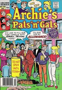 Cover Thumbnail for Archie's Pals 'n' Gals (Archie, 1952 series) #198 [Regular Edition]