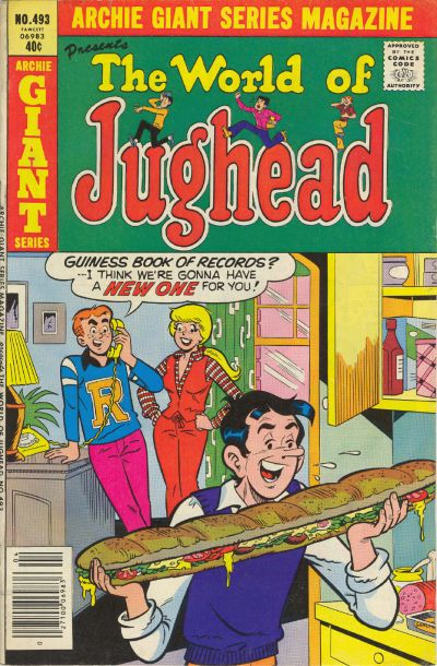 Cover for Archie Giant Series Magazine (Archie, 1954 series) #493