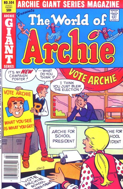 Cover for Archie Giant Series Magazine (Archie, 1954 series) #504