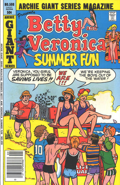 Cover for Archie Giant Series Magazine (Archie, 1954 series) #508