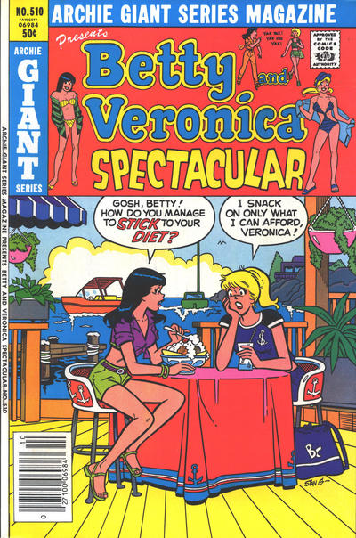 Cover for Archie Giant Series Magazine (Archie, 1954 series) #510