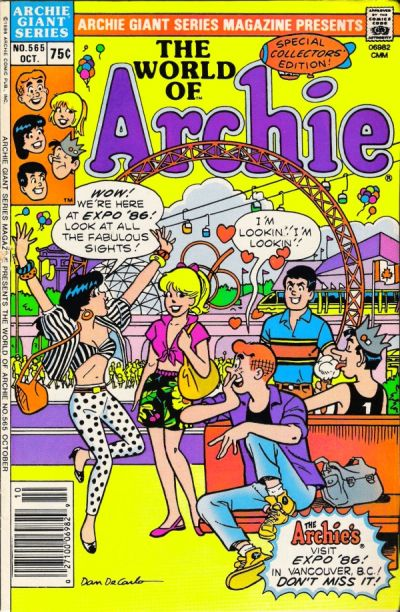 Cover for Archie Giant Series Magazine (Archie, 1954 series) #565