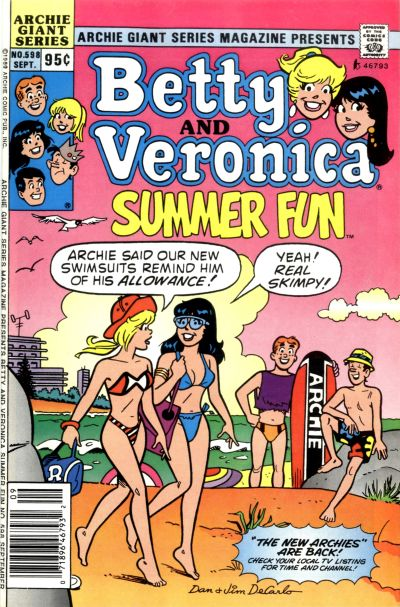 Cover for Archie Giant Series Magazine (Archie, 1954 series) #598 [Direct]