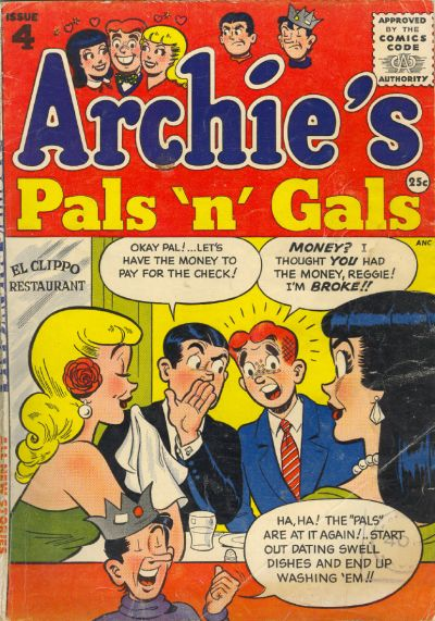 Cover for Archie's Pals 'n' Gals (Archie, 1952 series) #4