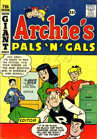 Cover for Archie's Pals 'n' Gals (Archie, 1952 series) #7