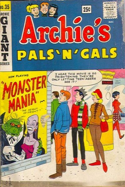 Cover for Archie's Pals 'n' Gals (Archie, 1952 series) #35