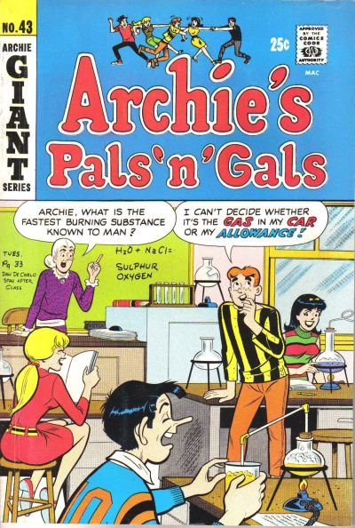 Cover for Archie's Pals 'n' Gals (Archie, 1952 series) #43