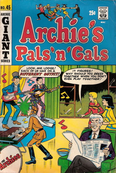Cover for Archie's Pals 'n' Gals (Archie, 1952 series) #45