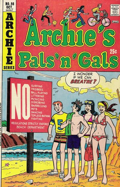 Cover for Archie's Pals 'n' Gals (Archie, 1952 series) #98