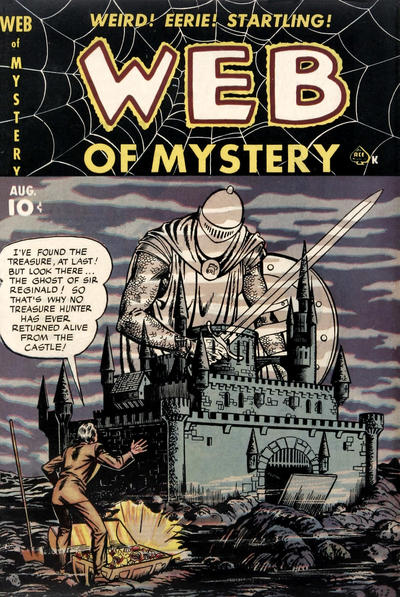 Cover for Web of Mystery (Ace Magazines, 1951 series) #4