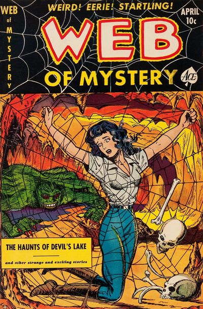 Cover for Web of Mystery (Ace Magazines, 1951 series) #8