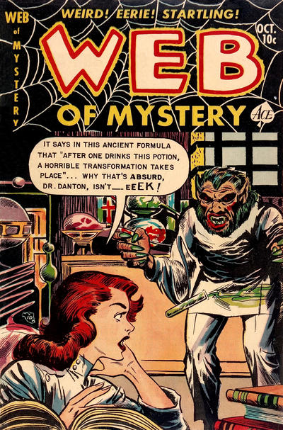 Cover for Web of Mystery (Ace Magazines, 1951 series) #14