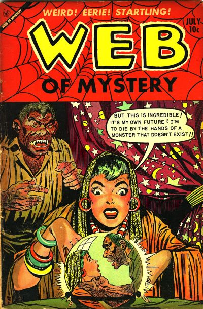 Cover for Web of Mystery (Ace Magazines, 1951 series) #19