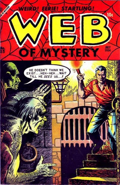 Cover for Web of Mystery (Ace Magazines, 1951 series) #25