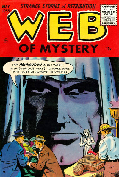 Cover for Web of Mystery (Ace Magazines, 1951 series) #28