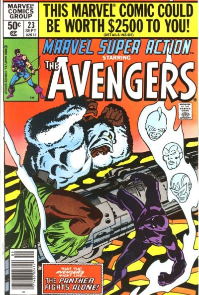 Cover for Marvel Super Action (Marvel, 1977 series) #23 [Direct Edition]