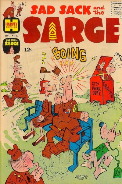 Cover for Sad Sack and the Sarge (Harvey, 1957 series) #57