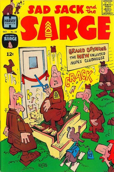 Cover for Sad Sack and the Sarge (Harvey, 1957 series) #58