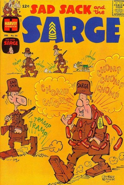 Cover for Sad Sack and the Sarge (Harvey, 1957 series) #66