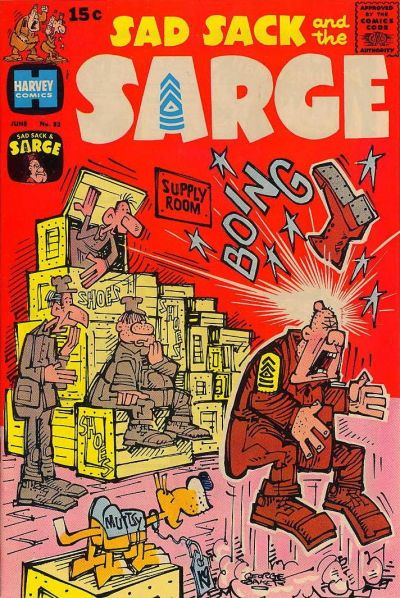 Cover for Sad Sack and the Sarge (Harvey, 1957 series) #82