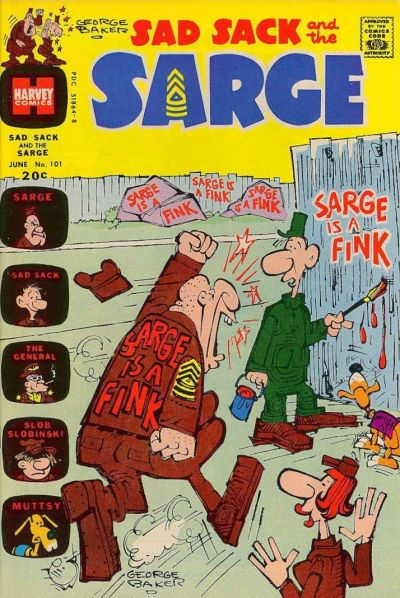 Cover for Sad Sack and the Sarge (Harvey, 1957 series) #101
