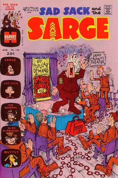 Cover for Sad Sack and the Sarge (Harvey, 1957 series) #102