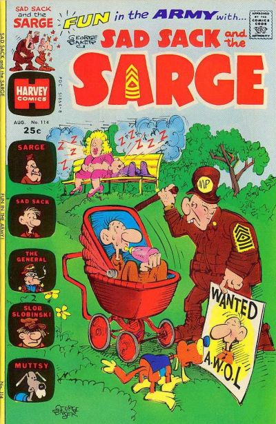 Cover for Sad Sack and the Sarge (Harvey, 1957 series) #114