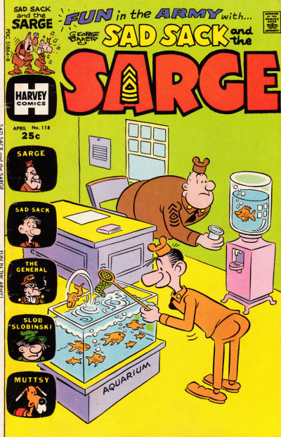 Cover for Sad Sack and the Sarge (Harvey, 1957 series) #118