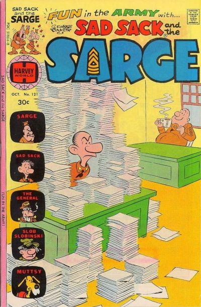 Cover for Sad Sack and the Sarge (Harvey, 1957 series) #121