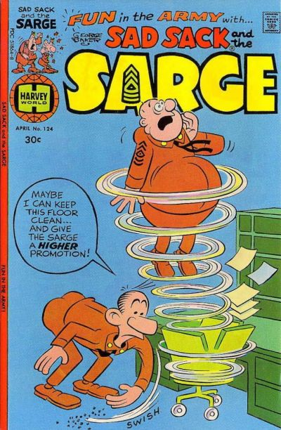 Cover for Sad Sack and the Sarge (Harvey, 1957 series) #124