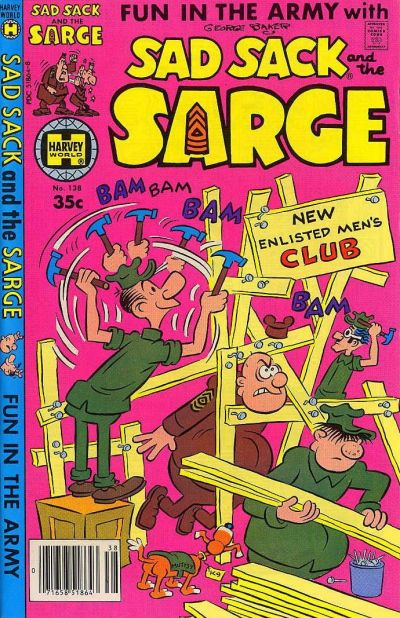 Cover for Sad Sack and the Sarge (Harvey, 1957 series) #138