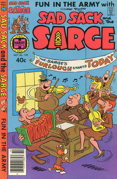Cover for Sad Sack and the Sarge (Harvey, 1957 series) #139