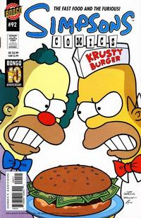 Cover Thumbnail for Simpsons Comics (Bongo, 1993 series) #92