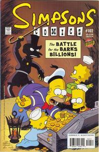 Cover for Simpsons Comics (Bongo, 1993 series) #102