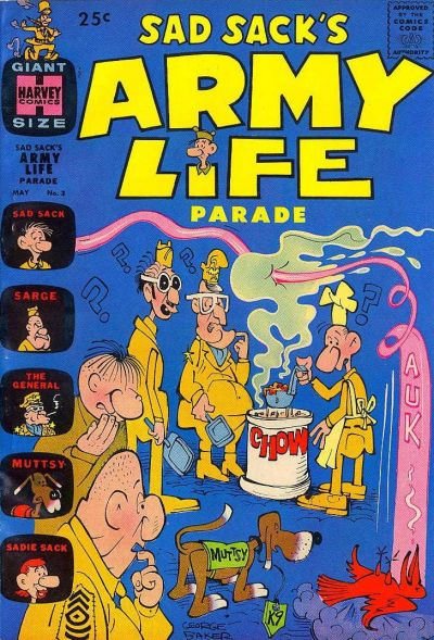 Cover for Sad Sack's Army Life Parade (Harvey, 1963 series) #3