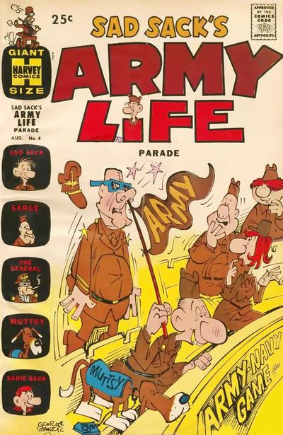 Cover for Sad Sack's Army Life Parade (Harvey, 1963 series) #4