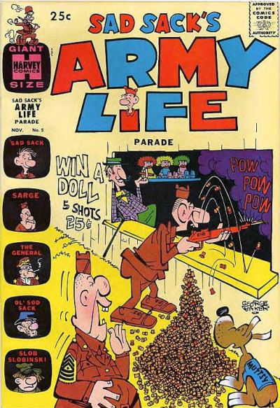 Cover for Sad Sack's Army Life Parade (Harvey, 1963 series) #5