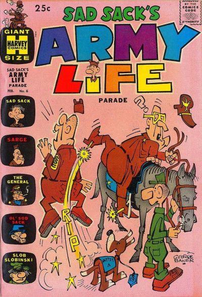 Cover for Sad Sack's Army Life Parade (Harvey, 1963 series) #6