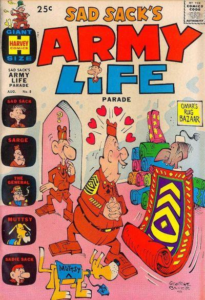 Cover for Sad Sack's Army Life Parade (Harvey, 1963 series) #8