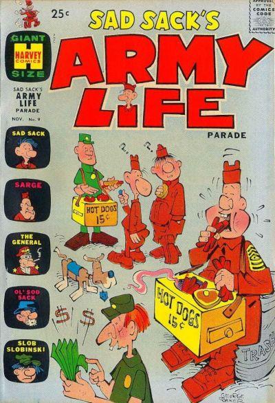 Cover for Sad Sack's Army Life Parade (Harvey, 1963 series) #9