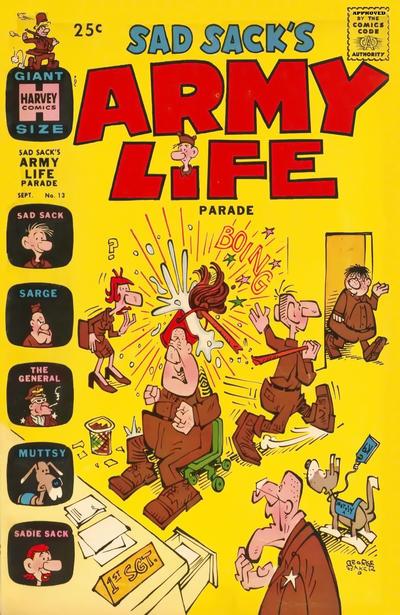 Cover for Sad Sack's Army Life Parade (Harvey, 1963 series) #13