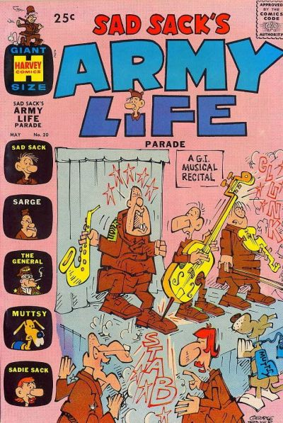 Cover for Sad Sack's Army Life Parade (Harvey, 1963 series) #20