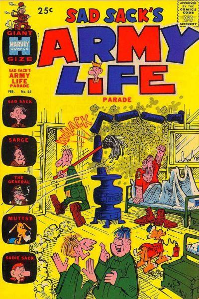 Cover for Sad Sack's Army Life Parade (Harvey, 1963 series) #23