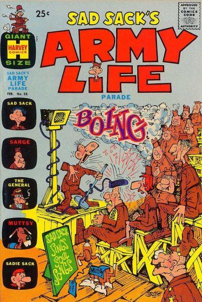 Cover for Sad Sack's Army Life Parade (Harvey, 1963 series) #28