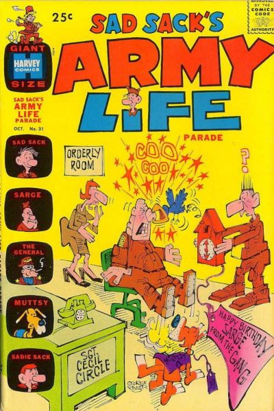 Cover for Sad Sack's Army Life Parade (Harvey, 1963 series) #31
