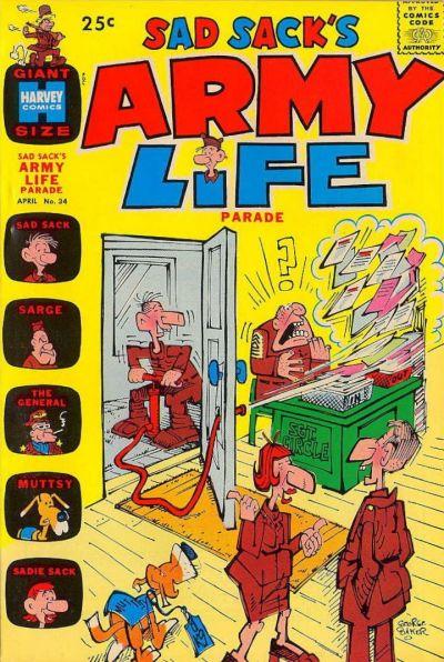 Cover for Sad Sack's Army Life Parade (Harvey, 1963 series) #34