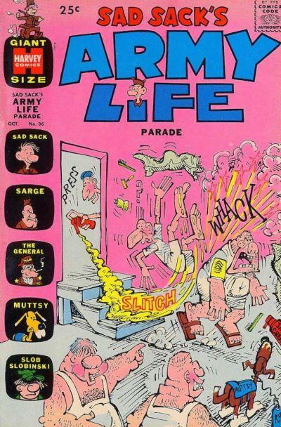 Cover for Sad Sack's Army Life Parade (Harvey, 1963 series) #36