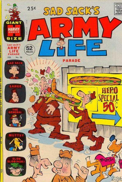 Cover for Sad Sack's Army Life Parade (Harvey, 1963 series) #38